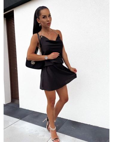 Sukienka z łańcuszkiem czarna