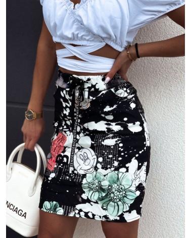 Spódnica z kieszeniami czarna