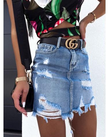 Spódniczka mini niebieska