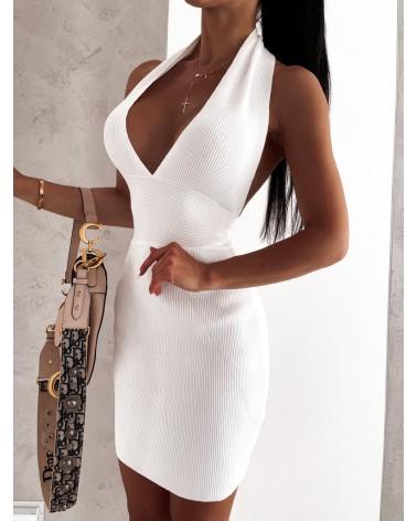 Sukienka na szyje biała
