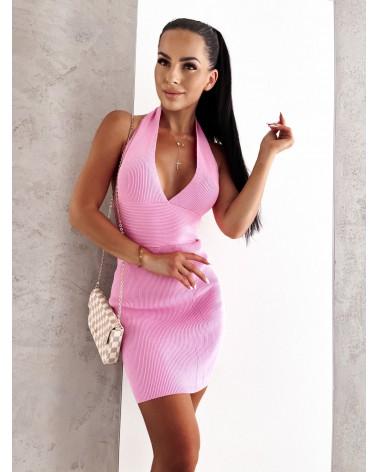 Sukienka na szyje różowa