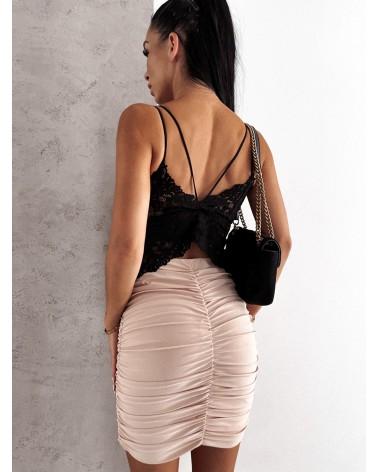 Drapowana spódnica jasno beżowa