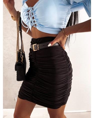 Drapowana spódnica czarna