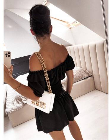Komplet dwuczęściowy top i spódnica czarny