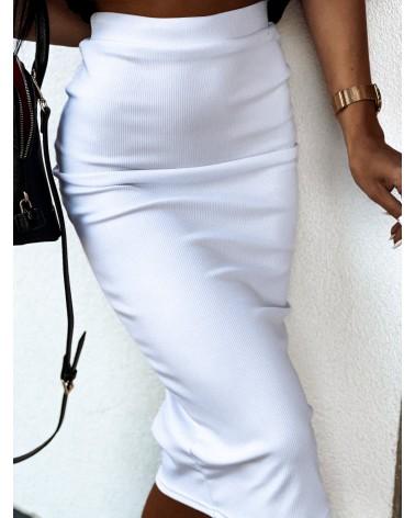 Spódnica midi biała