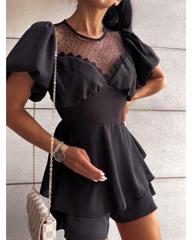 Czarny kombinezon elegancki