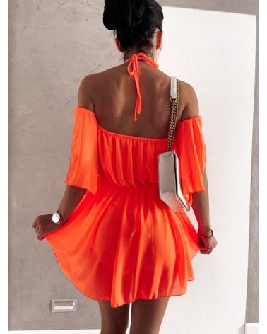 Kombinezon krótki damski pomarańczowy