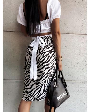 Wzorzysta spódnica w kolorze czarno-białym