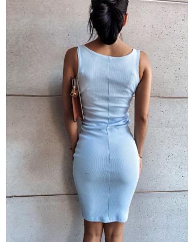 Sukienka midi błękitna