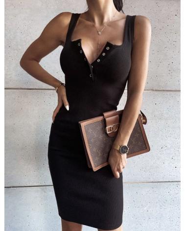 Sukienka midi czarna
