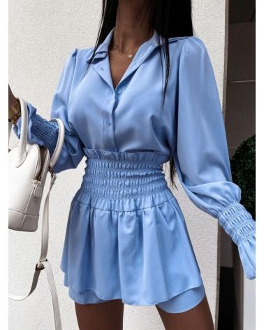 Komplet spódnica i koszula błękit