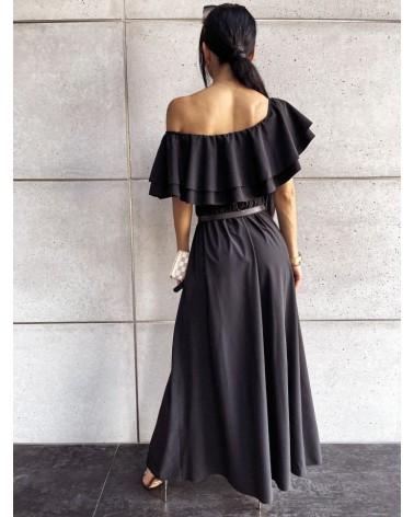Komplet długa spódnica i top czarny