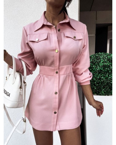 Koszula elegancka damska pudrowa