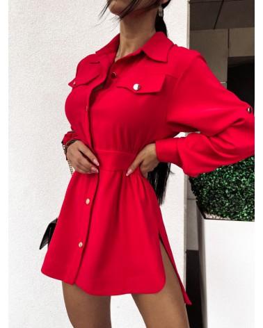 Koszula elegancka damska czerwona