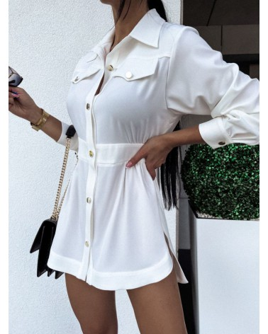 Koszula elegancka damska ecru