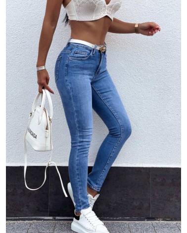 Damskie spodnie dżinsowe  jasnoniebieskie