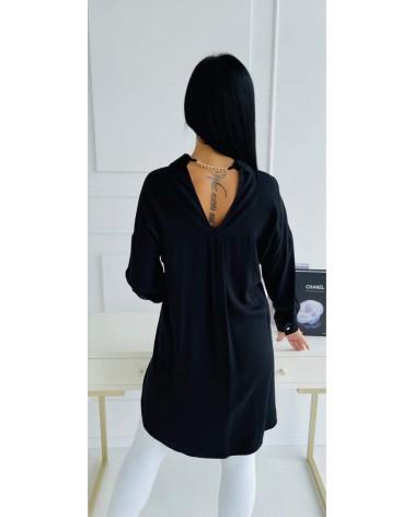 Asymetryczna koszula oversize czarna
