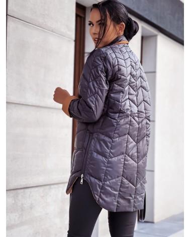 Pikowana kurtka dwustronna czarno karmelowa