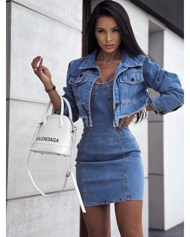 Damski zestaw jeansowy niebieski