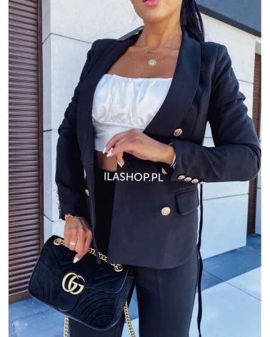 Garnitur damski czarny Influence