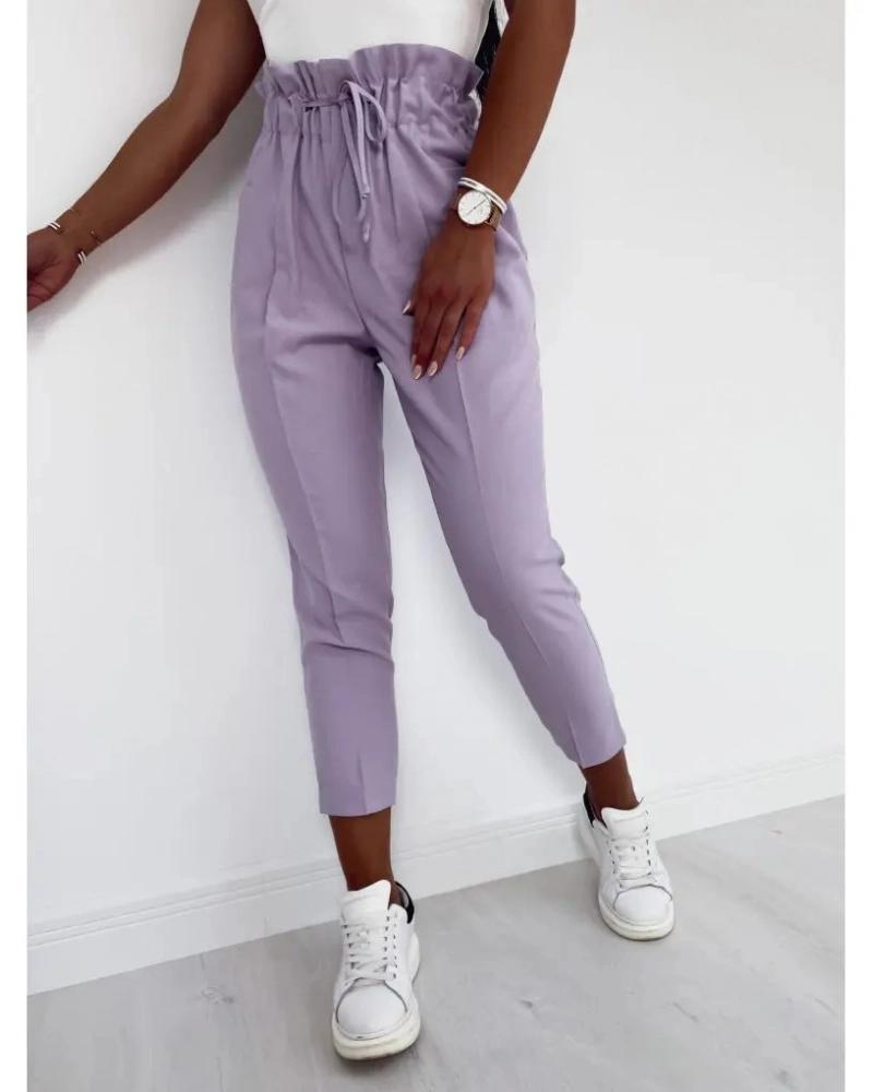spodnie przewiewne ze ściągaczem
