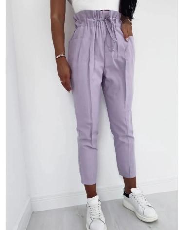 luźne spodnie damskie z wysokim stanem