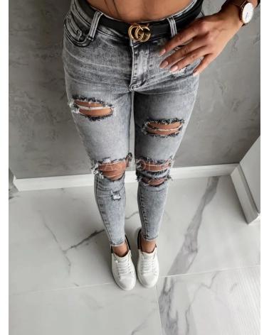 Spodnie push marmurkowe