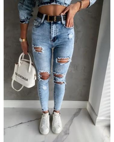 spodnie jeansowe push up