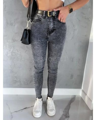 jeansy z wysokim stanem w kolorze szarym