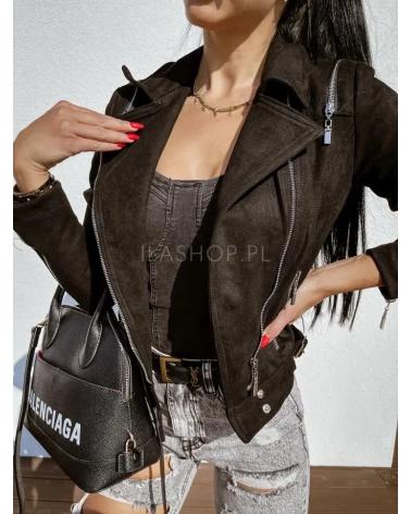 Damska kurtka w kolorze czarnym