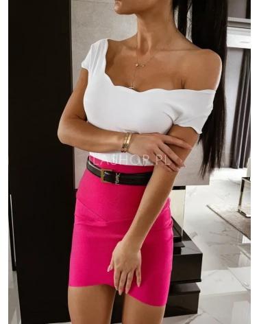 Bluzka z krótkim rękawem biała Lilas
