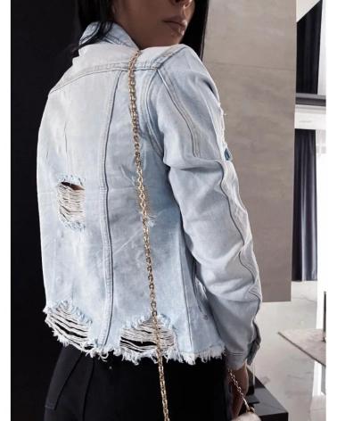 Kurtka jeansowa krótka jasnoniebieska Luix