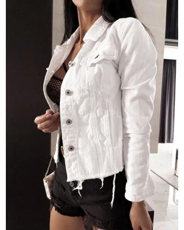 Kurtka jeansowa damska biała z Myszką Miki