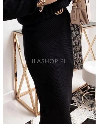 Dzianinowa spódnica czarna Yasmine