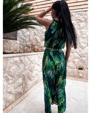 Długa sukienka w liście