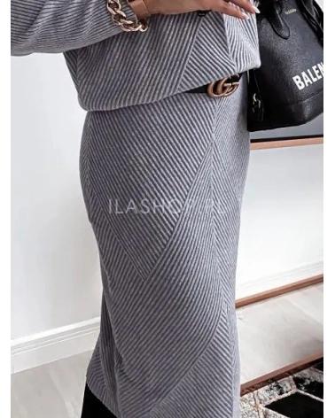 Dzianinowa spódnica szara Yasmine
