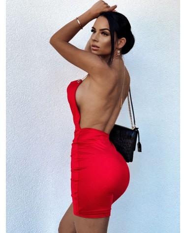 Sukienka z łańcuszkiem czerwona