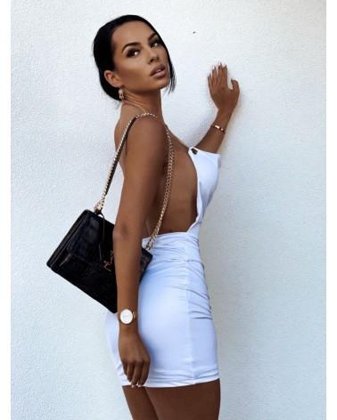 Sukienka z łańcuszkiem biała