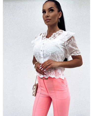 Elegancka koszula z topem biała