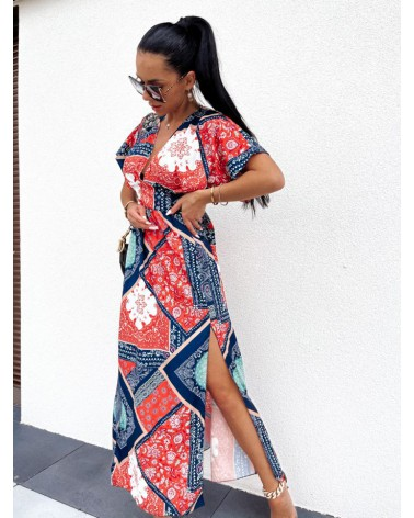Sukienka z wycięciem granatowa